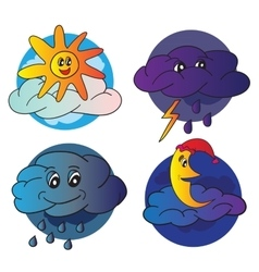 Weather icons design vector image