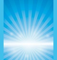 blue background with sunburst vector image