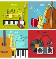 Flat Music Icon Set vector image vector image