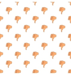 Gesture thumbs down pattern cartoon style vector image vector image