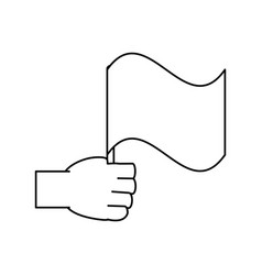 hand with flag vector image