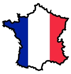Map in colors of France vector image vector image