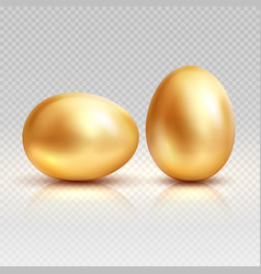 golden eggs realistic for vector image vector image