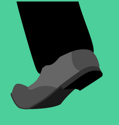 leg shoes go isolated stepping foot template vector image