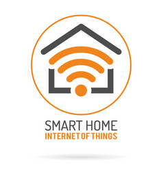 smart home and internet of things logo vector image vector image