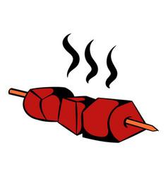 barbecue grilled icon icon cartoon vector image