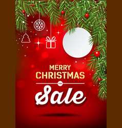 happy merry christmas banner sale design vector image vector image