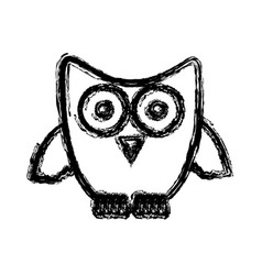 silhouette stylized owl icon vector image