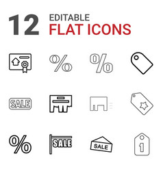 12 promotion icons vector