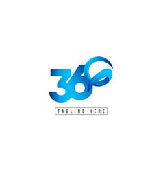 360 logo template design vector