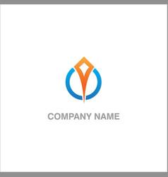abstract arrow sign company logo vector image