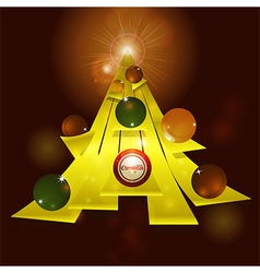 Abstract Christmas tree and baubles background vector image