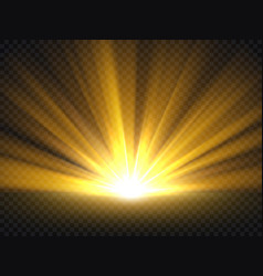 abstract golden bright light gold shine burst vector image vector image