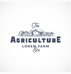 agriculture farm abstract sign symbol or vector image