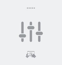 audio levels control icon vector image