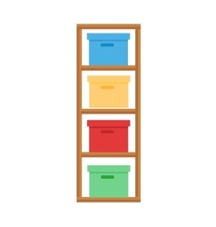 Baby changing table vector image