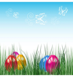 Background with Easter eggs vector