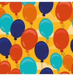 balloons pattern vector image