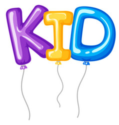Baloons for word kid vector