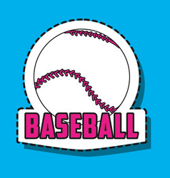 Baseball ball sport patches decoration vector