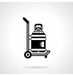 Black icon for potable water delivery vector
