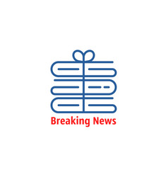 Breaking news thin line logo vector