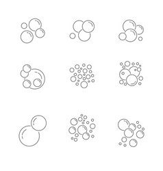 bubble icons collection icons set vector image