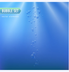 Bubbles under water on blue vector