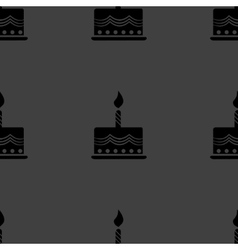 cake web icon flat design Seamless gray pattern vector image