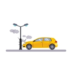 Car and Transportation Issue with a Lamp vector