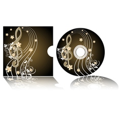 CD label vector image