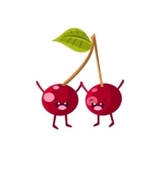 Cherries Cartoon Friends vector image