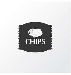 chips icon symbol premium quality isolated crisp vector image