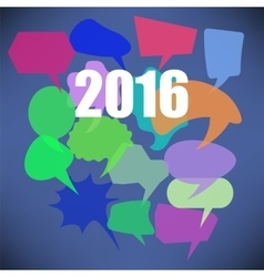 Colorful New Year Speech Bubbles vector image