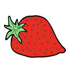 comic cartoon strawberry vector image