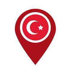 Cumhuriyet bayrami moon and star symbol in pin vector