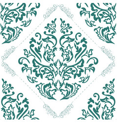 damask seamless pattern element classical damask vector image