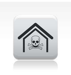 Dangerous home icon vector