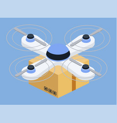 drone innovative ways delivery cargo shipment vector image