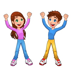 Enthusiast boy and girl vector image