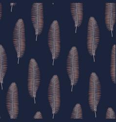 fashion style jungle pattern seamless background vector image