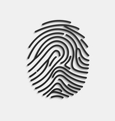 fingerprint scan fingerprint isolated on white vector image