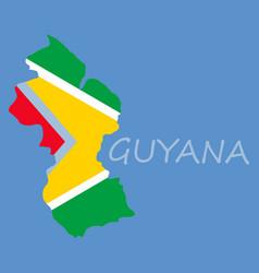 flag map of guyana vector image