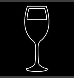 glass wine it is icon vector image
