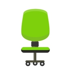 Green Office Chair Icon vector