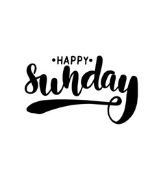 happy sunday lettering greeting card vector image