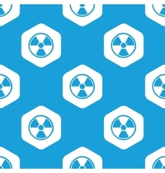Hazard hexagon pattern vector image