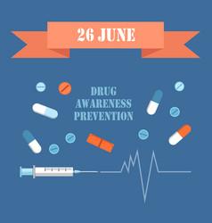 International day june drug awareness prevention vector