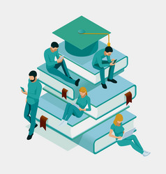 isometric training online learning webinar vector image