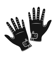 Jockey s gloves icon in black style isolated on vector